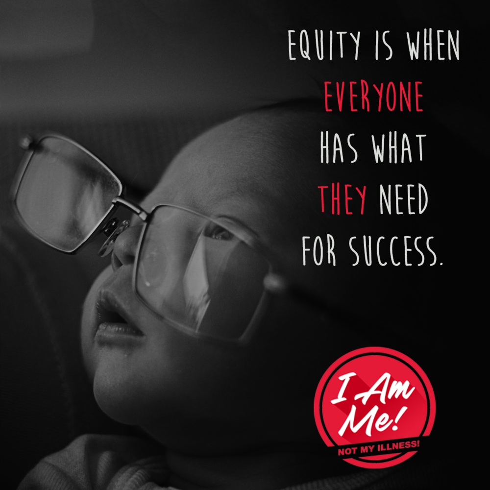 Equality is when everyone has what they need for success.
