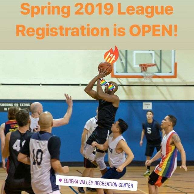 Hey #ballers! SFGBA's 2019 spring league registration is NOW OPEN! Go to sfgba.com/league to register. Spots are first come, first served so act fast! #gaybasketball #castrodistrict #sanfrancisco #queersports #🏀