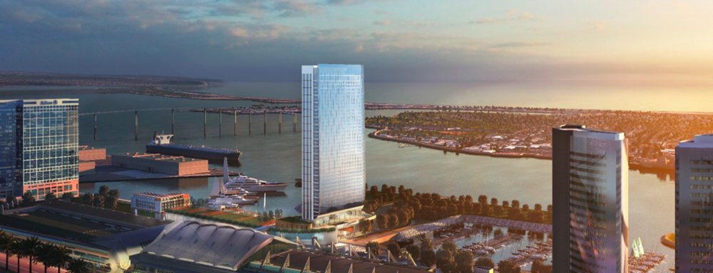 A rendering of the proposed Fifth Avenue Landing hotel / Rendering courtesy of Fifth Avenue Landing