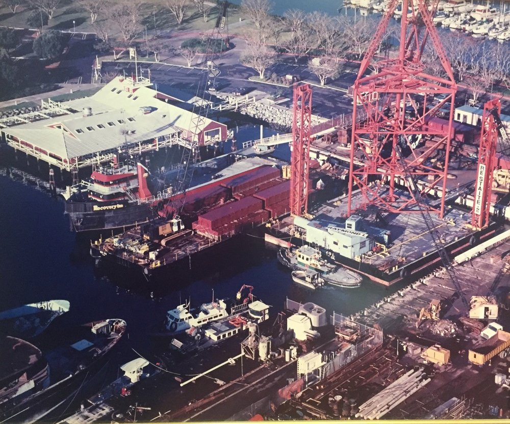 This is what the marine dredging and construction operation at Fifth Avenue Landing used to look like. / Photo courtesy of Fifth Avenue Landing LLC