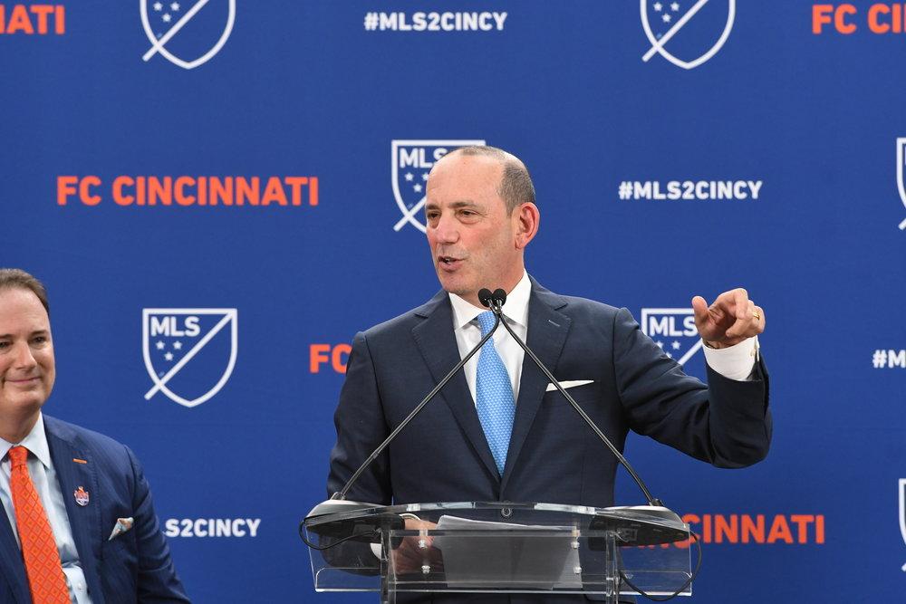 MLS Commissioner Don Garber (credit Major League Soccer).