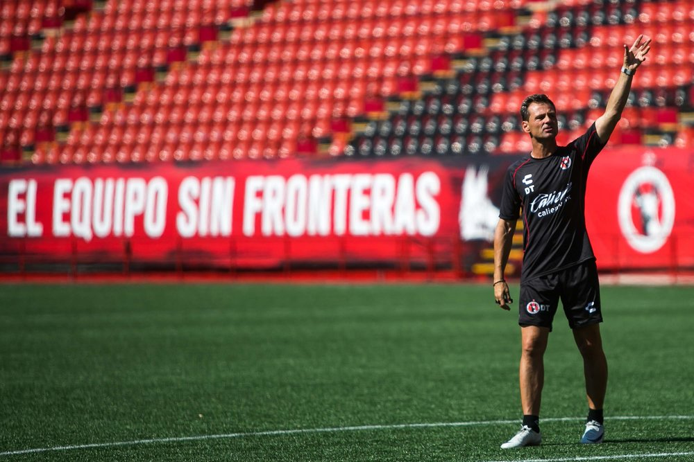 Xolos manager Diego Cocca during a training earlier this season. Photo via Club Tijuana
