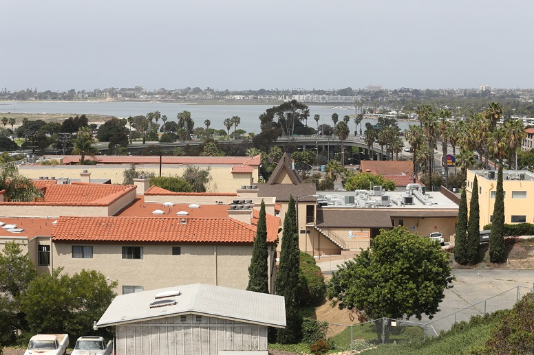 Clairemont and Bay Park residents have strongly opposed plans to add taller, denser housing near stops along the Mid-Coast Trolley line. Photo by Jamie Scott Lytle