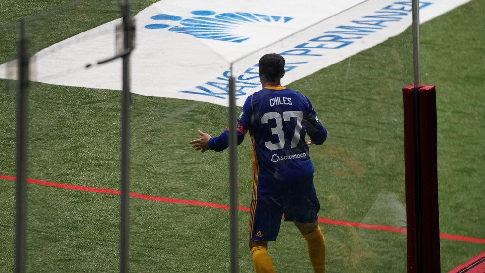 Team captain Kraig Chiles during the 2019 home opener