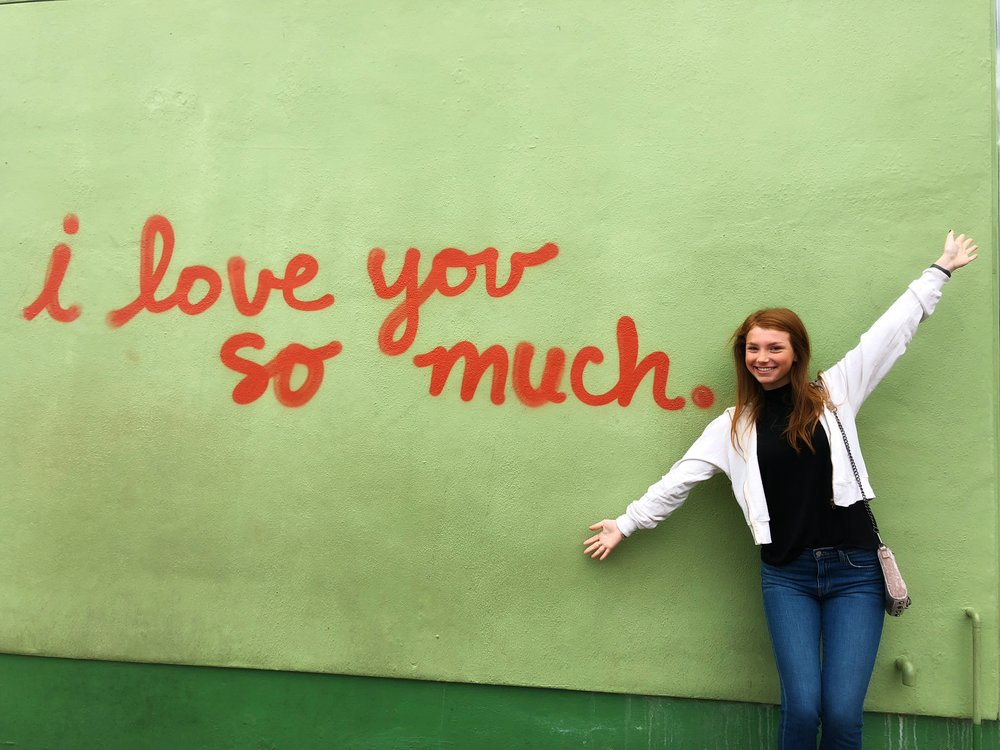 Of course I had to go to the I love you wall for Valentines day.