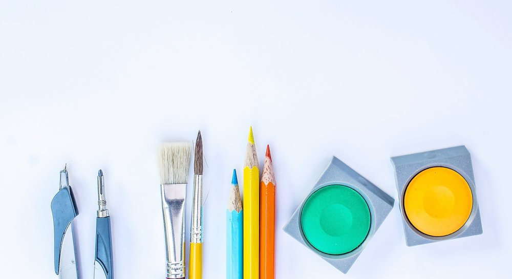 Colorful drawing set