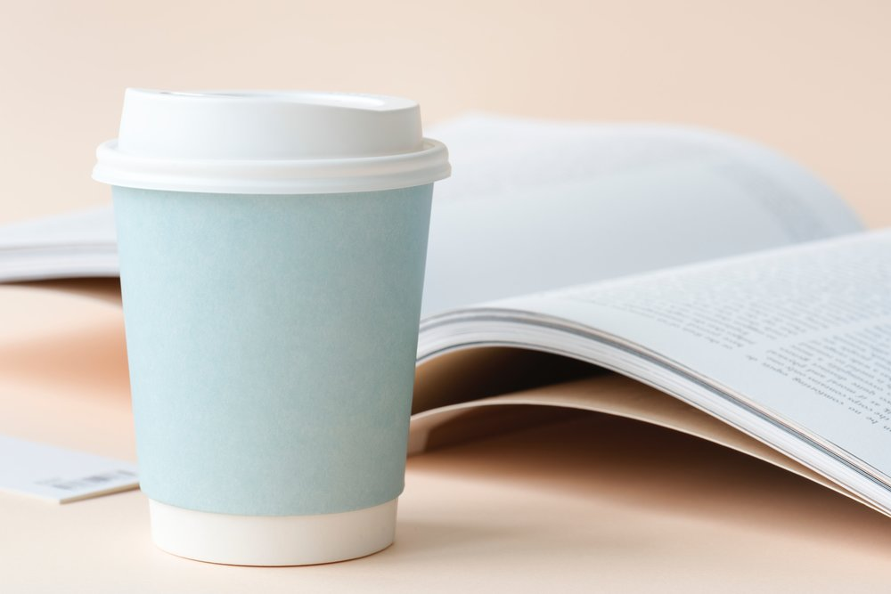 Mint cup and book