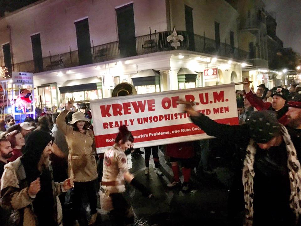 Here comes the Krewe Banner
