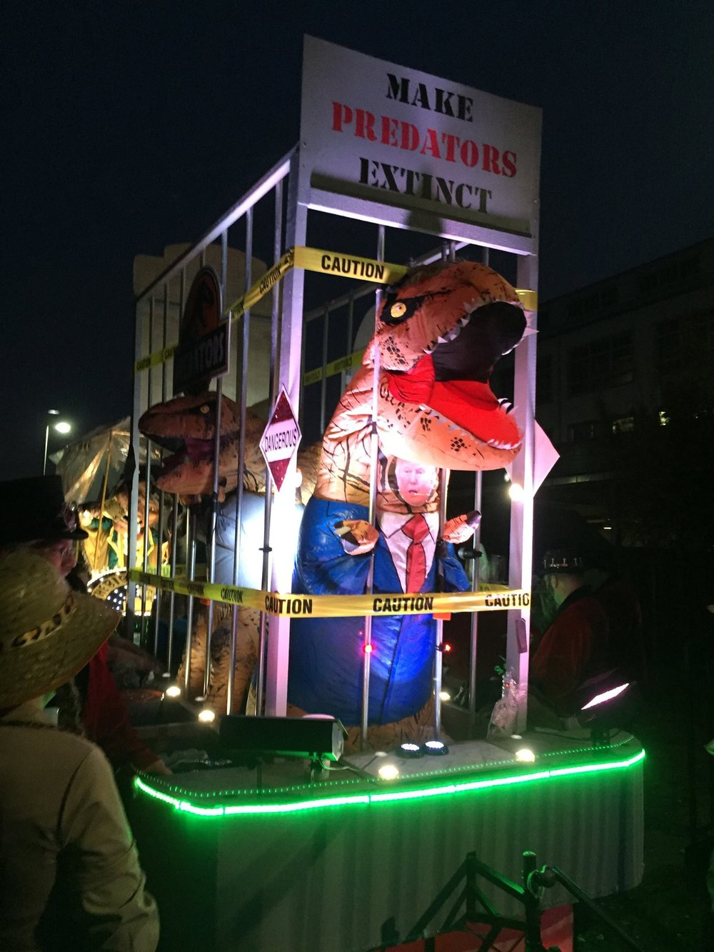 Our float coming down the stret