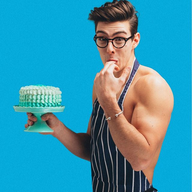 Today we #recommend #following @toplessbaker because IT IS HIS BIRTHDAY 🎈 We imagine he's baking his own cake - because why wouldn't you - but sharing it with us 🙋🏼🎂