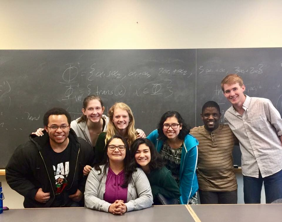 Dr. Pamela E. Harris and her representation theory research students at Williams College in fall 2016.