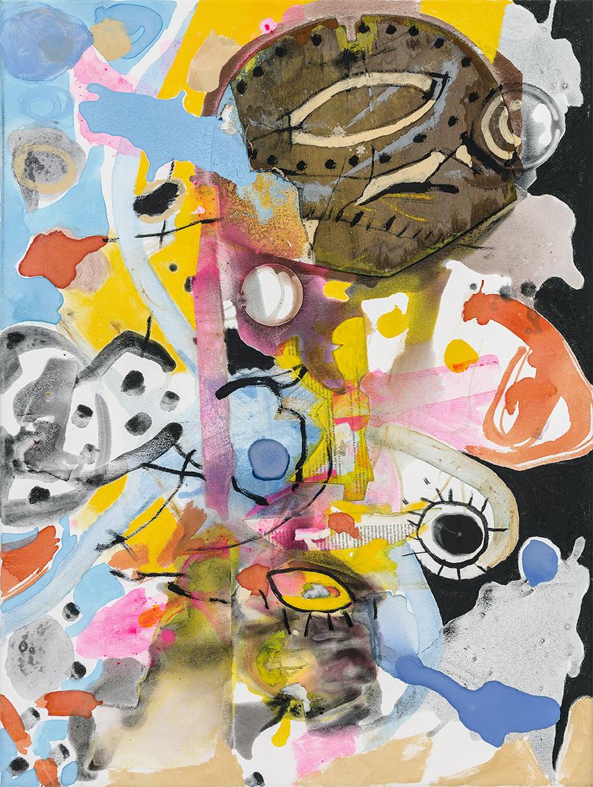 Blind Date, 2017, 80 x 60 cm, Öl und Acryl auf Leinwand