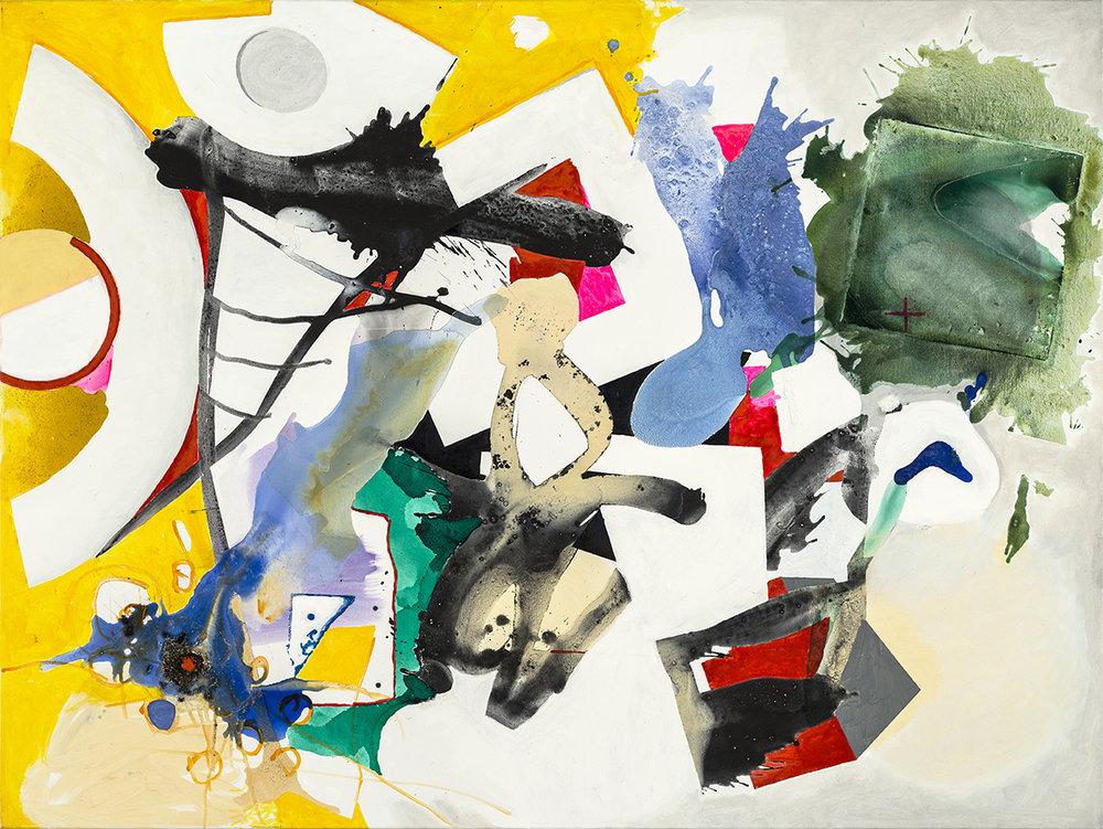 Gedankenflug, 2017, 120 x 160 cm, Öl und -acryl auf Leinwand