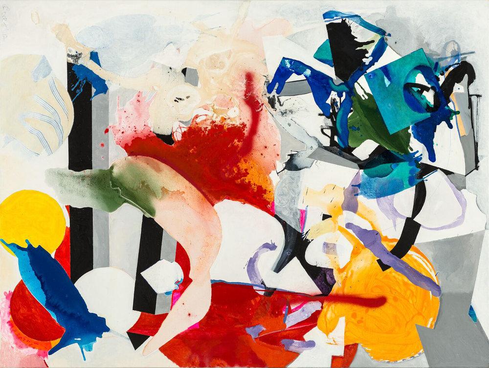 Luftschloss, 2017, 120 x 160 cm, Öl und Acryl auf Leinwand