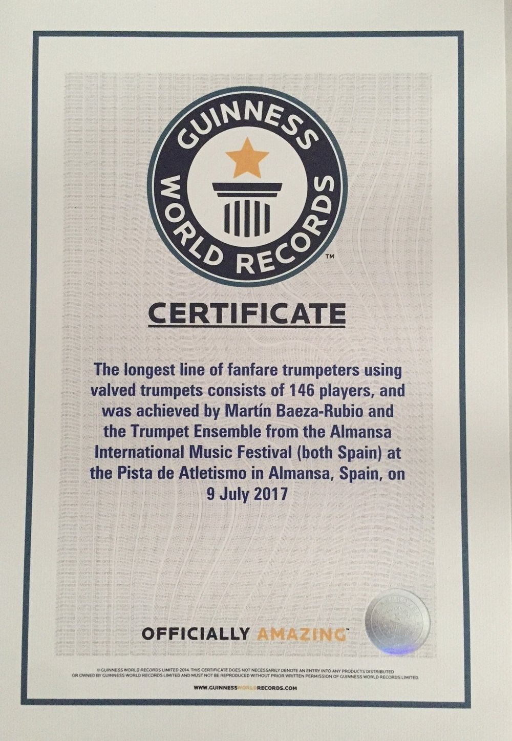 Guinness Certificate.JPG