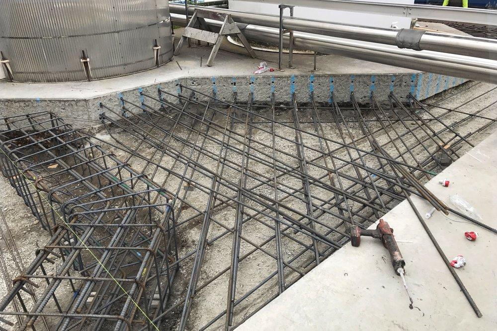 Siesmic foundation upgrade - National Silicates