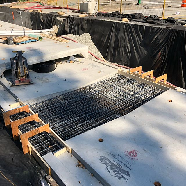 Maplewood Creek Culver Replacement. Custom base slab required to crossover a 900mm GVRD Water Main, placed and finished by guys at Gravity #districtofnorthvancouver #civilconstruction #concrete #gvrd #gravityconstruction