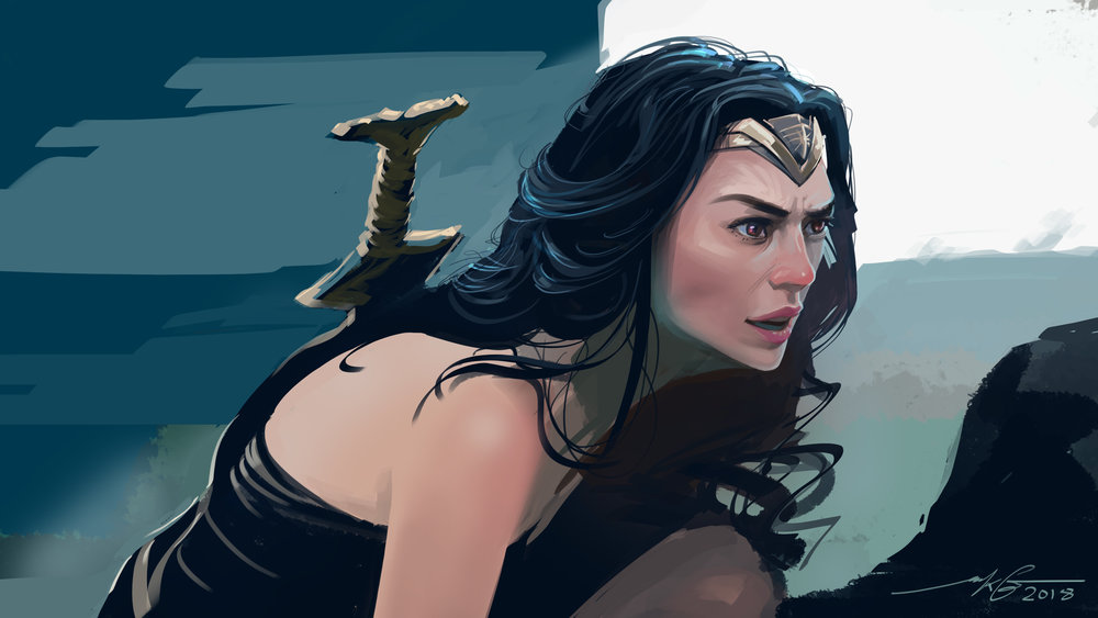 WonderWoman  Photoshop Illustration
