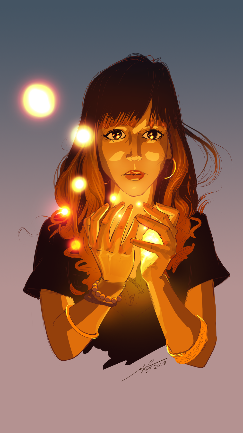 Firefly Girl  Photoshop Illustration
