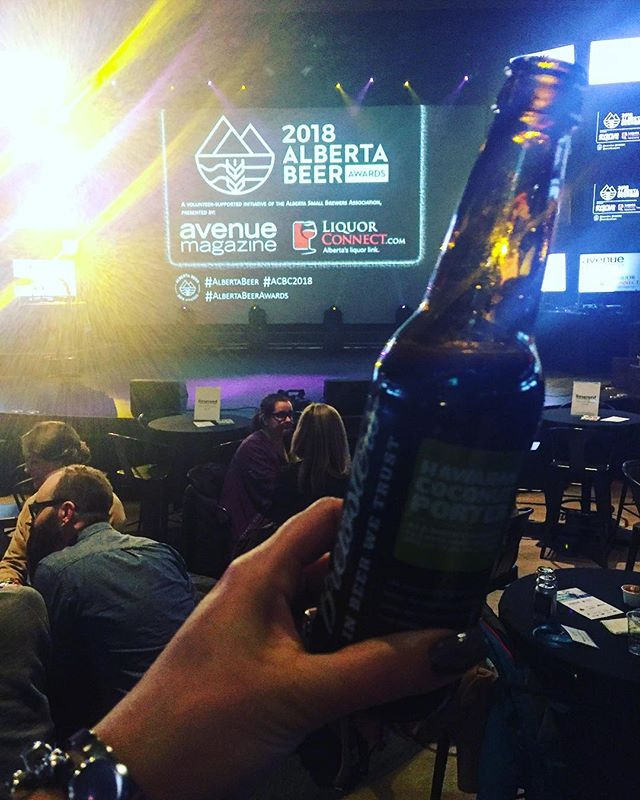 Congratulations to all the winners at the first annual #albertabeerawards We're delighted to have made all the shiny awards! Thank you @rockster for including us at tonight's event.  #beer #brewers #toomanytonamethemall
