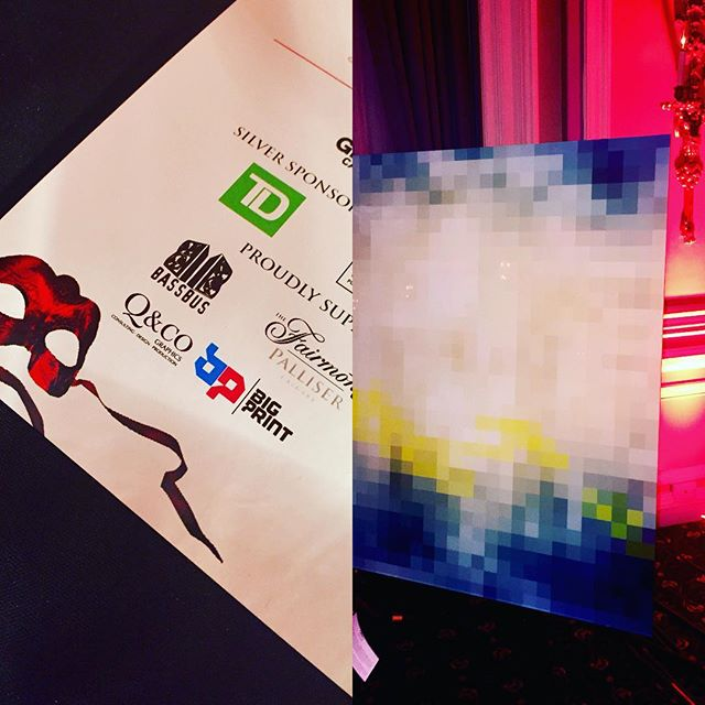 In good company tonight, we're proud to support @hivcl at the #splashofredgala with an art donation titled Cubism 3  #hiv  #hivawareness  #celebration  #yycart  #yycphilanthropy