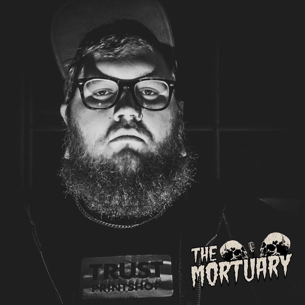 The Mortuary Podcast Logo Skull horror story paranormal activity popular podcast