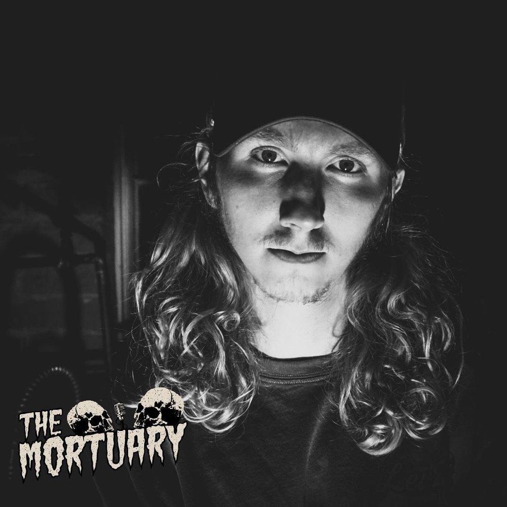 The Mortuary Podcast Logo Skull horror story paranormal activity popular podcast