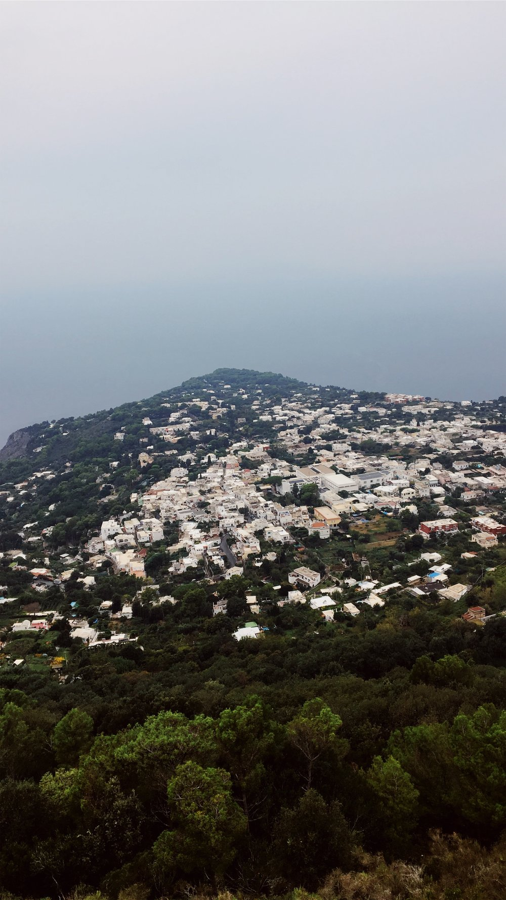 Monte Salaro Chairlift (Taken at 1,932 ft the highest point of Capri, Italy)