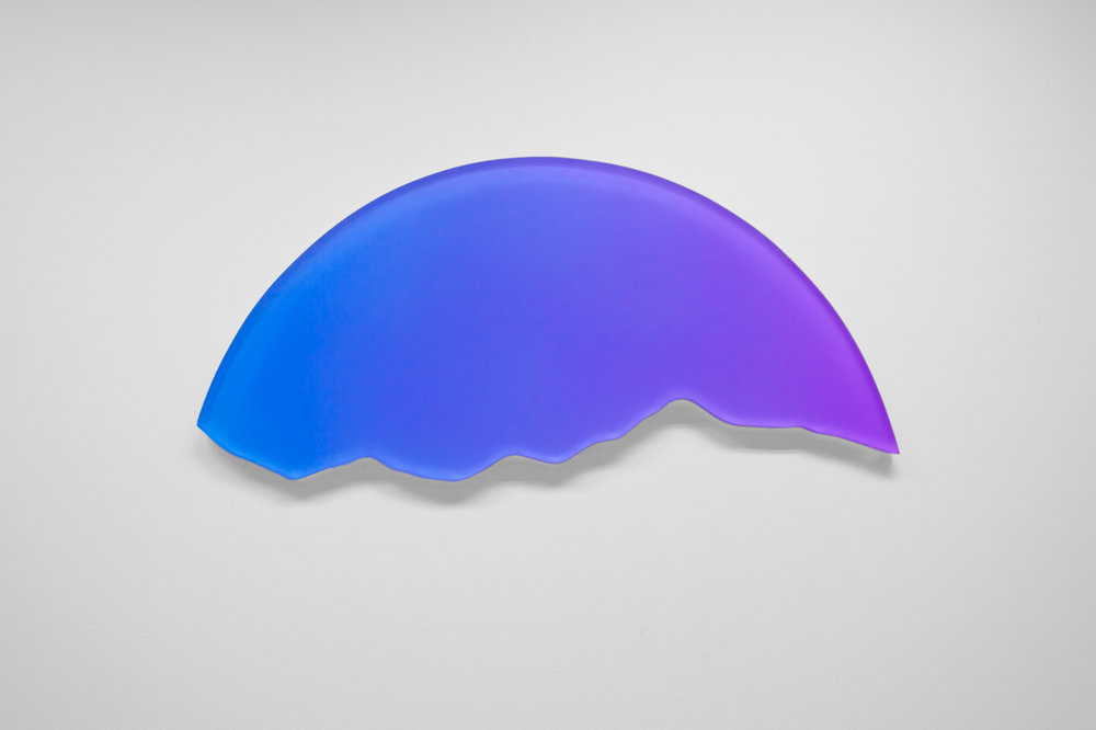Solar Silhouette 01   Epoxy resin and acrylic 15 x 30 x 3/4 in