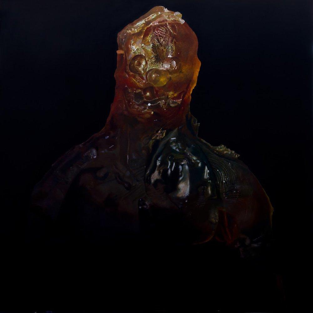 Soul of a Clowny Guy, Sure,  2015  Oil on board 48 x 48 in