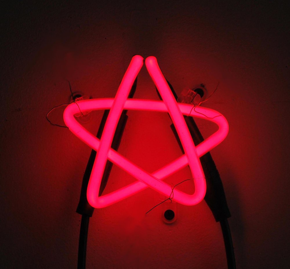 Pink Star,  2018  Neon Edition of 3 5 x 5 x 3 in