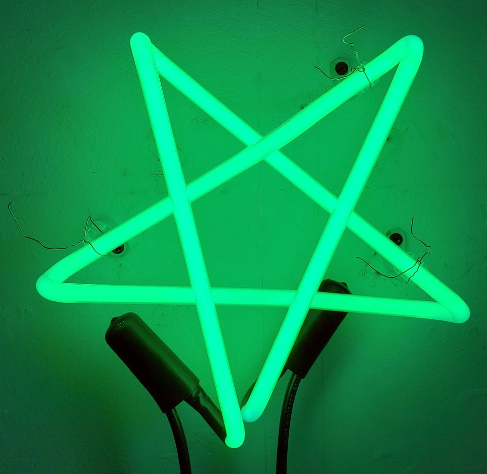 Green Star,  2018  Neon Edition of 3 9 x 9 x 3 in