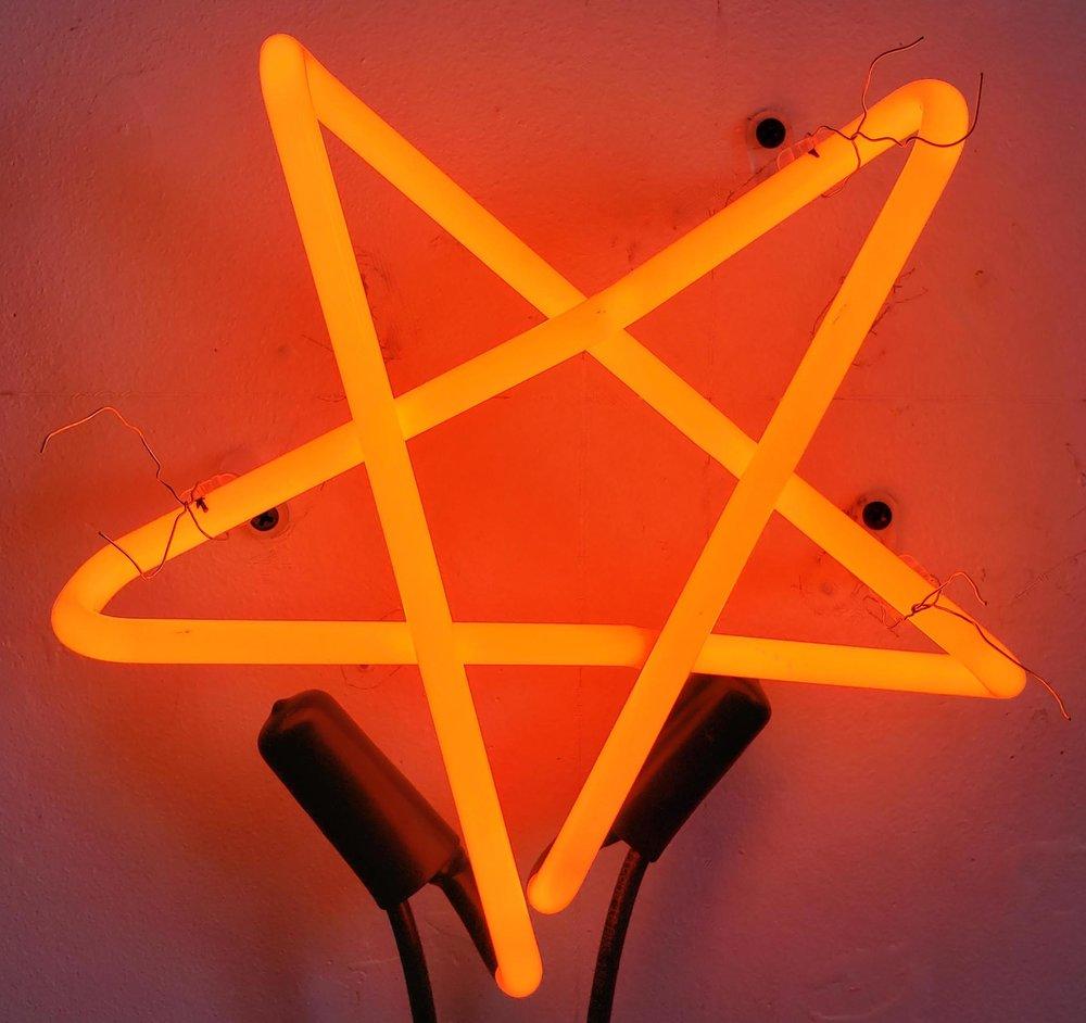 Orange Star,  2018  Neon Edition of 3 9 x 9 x 3 in