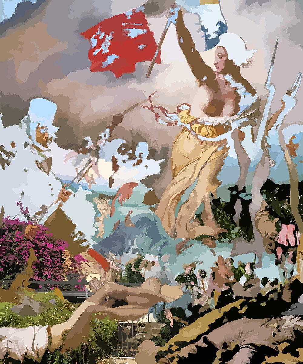 Mise en Scene   Oil on canvas 72 x 60 in