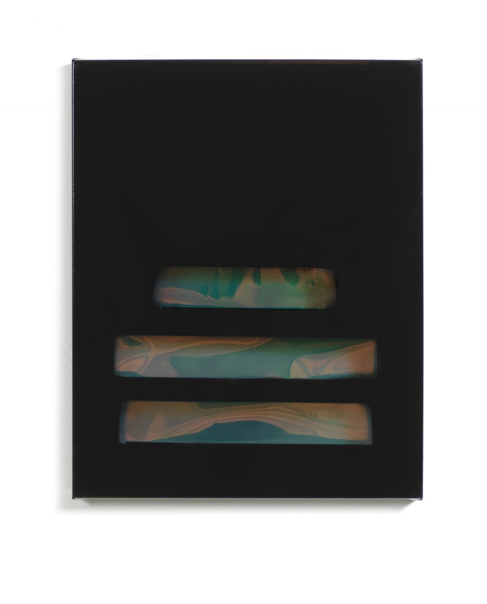 Free Room (Ravyn Lenae)    Spray paint, iridescent film, vinyl 20 x 16 in