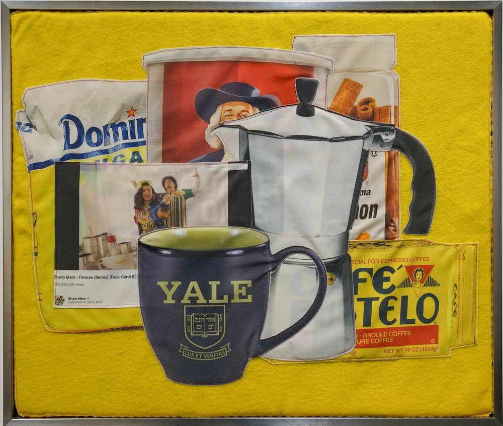 Breakfast Still-Life With Greca   Digital print on brushed nylon, felt & foam 22 X 25 3/4 in
