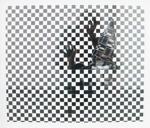Stan Squirewell  Suffused in White Noise III  Pigment print collage 15 1/2 × 17 1/2 in