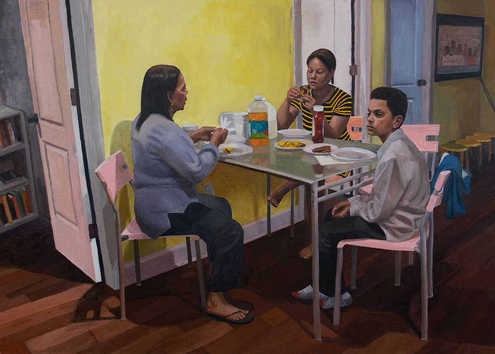 Raelis Vasquez,  The Beautiful Ones,  Oil on canvas, 40 x 56 in