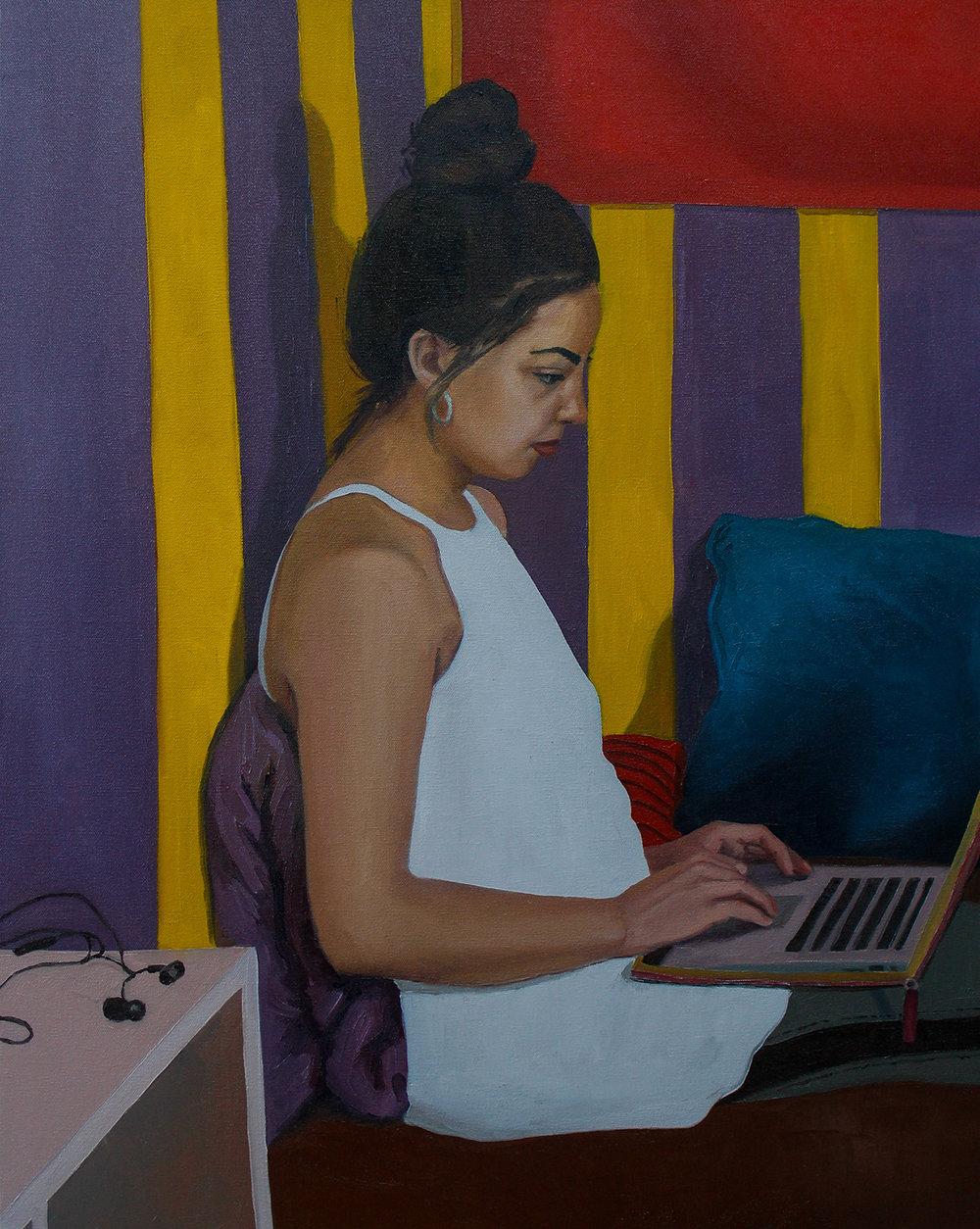 Sharraya  Oil on canvas 30 x 24 in $4,800