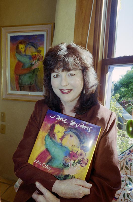 Jane with her published biography in 1997.  Image courtesy of Nelson Provincial Museum.
