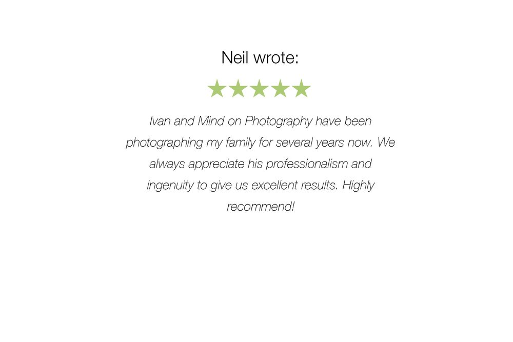 Customer's 5-star review on Mind On Photography