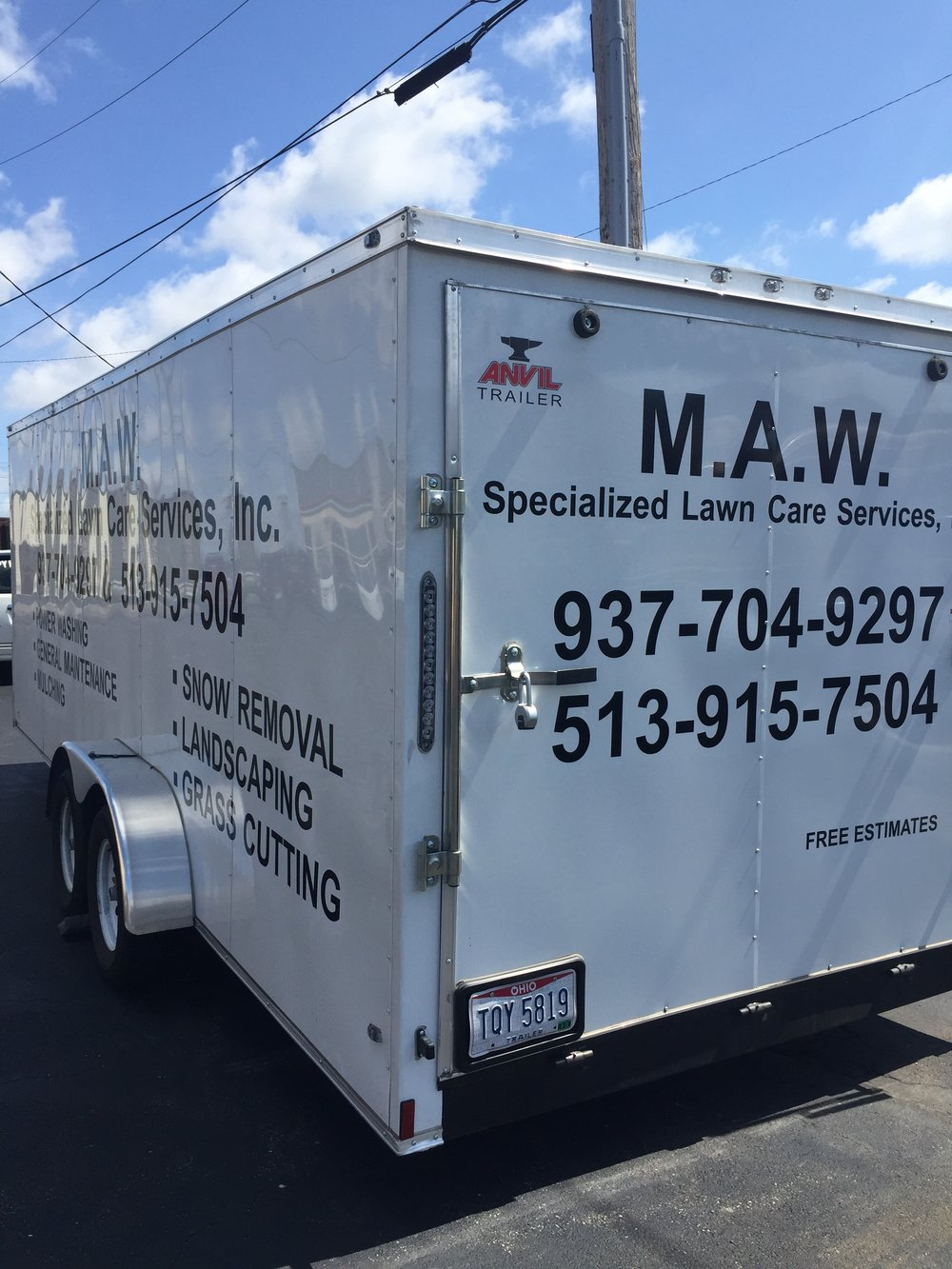 Lawn Care Trailer Lettering