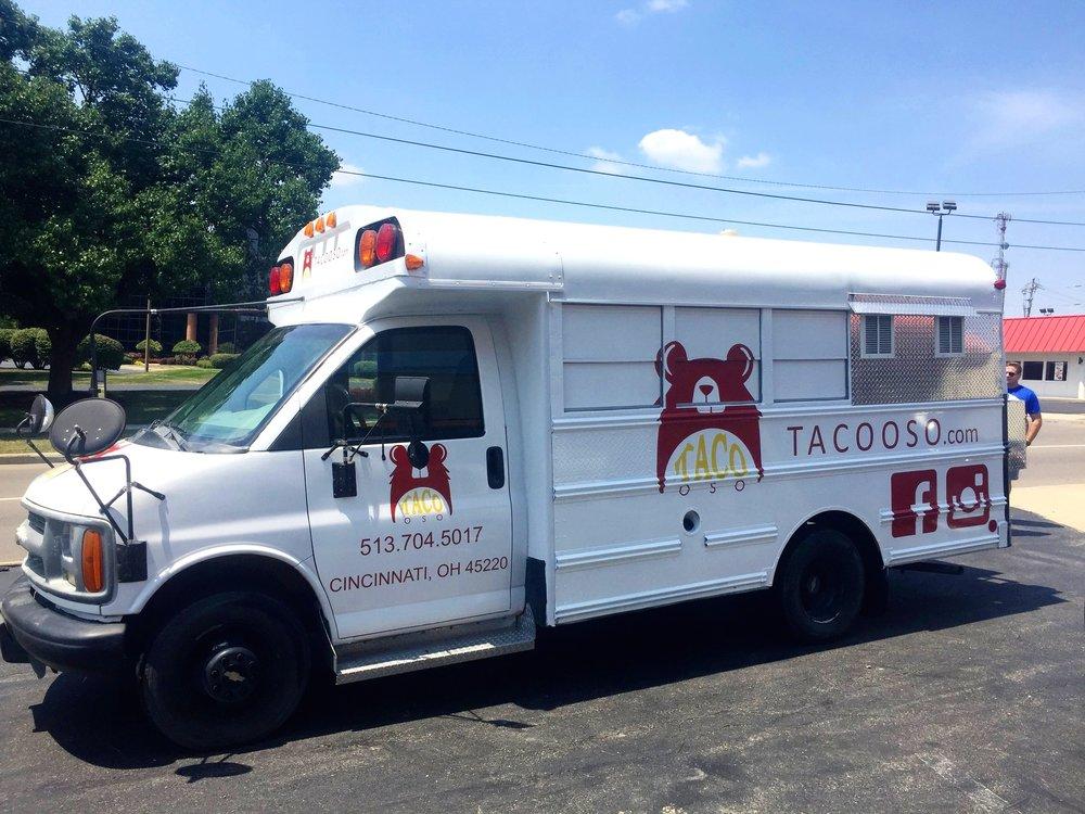 taco oso food truck wrap