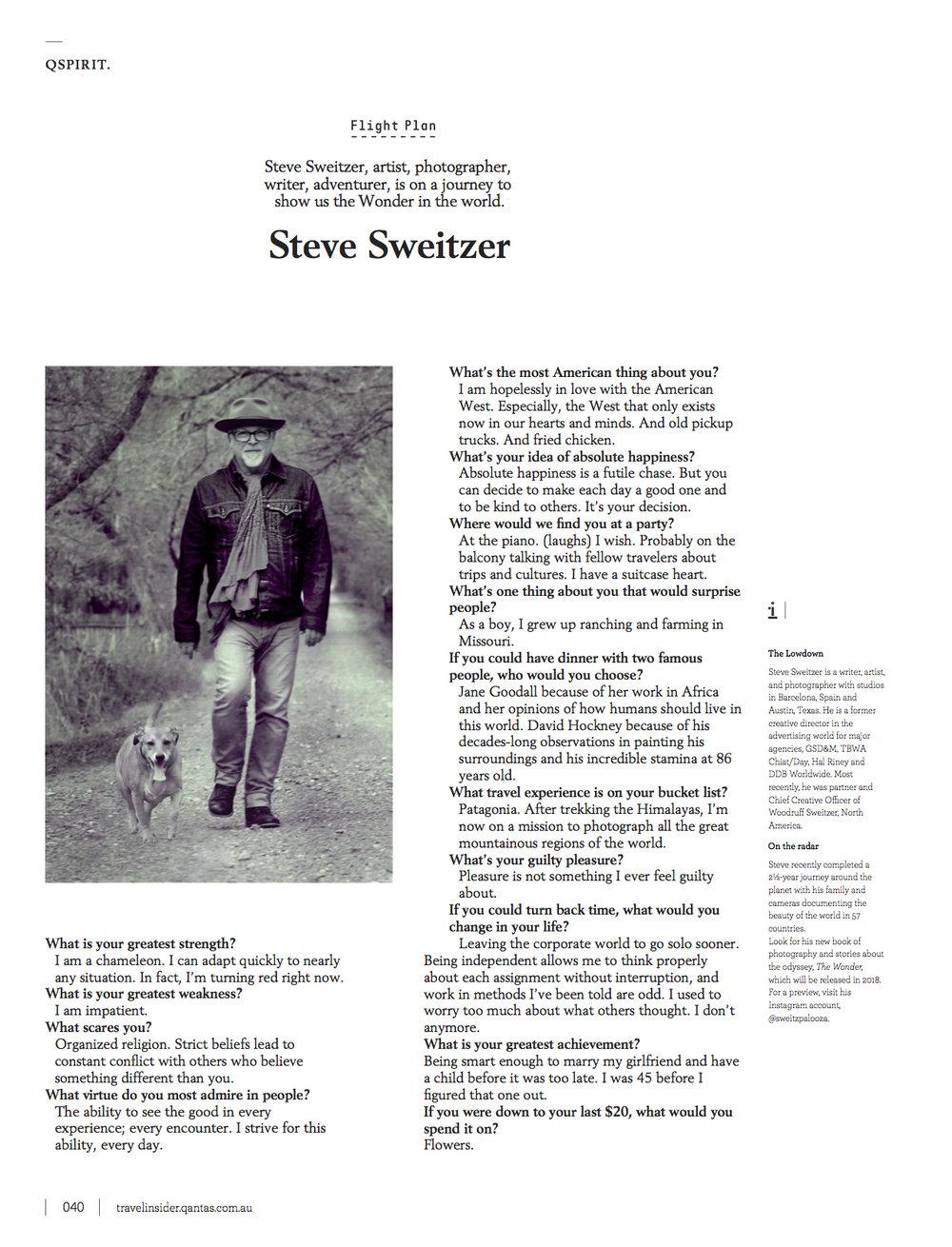 Qantas Traveler Profile: Steve Zweiter