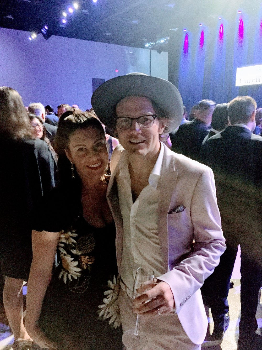 Luke Doucet of Whitehorse nominated (and won!) Adult Alternative Album of The Year.