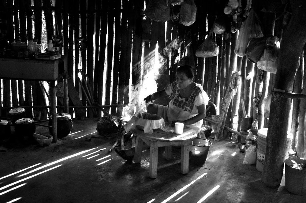 Rolling Tortillas  Yucatan, Mexico