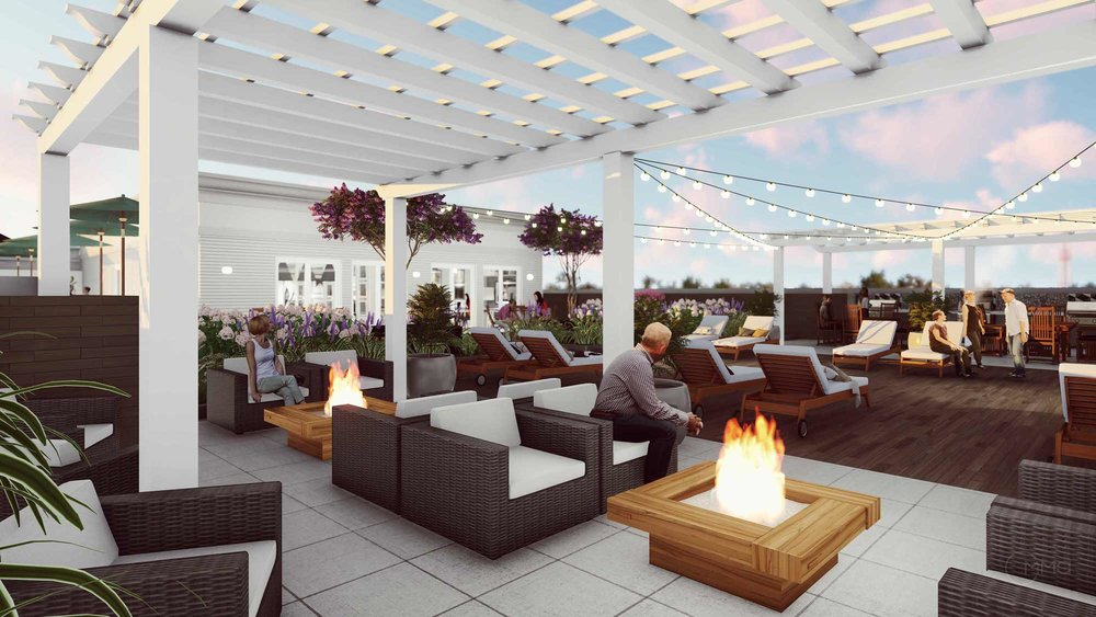 ROOFTOP LOUNGE FIREPITS