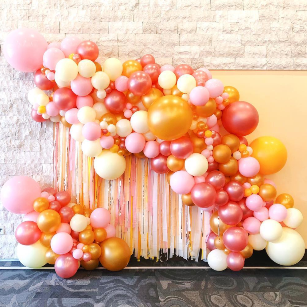 "Organic balloon installation with major fringe for CMT's Next Women of Country inside Country Music Hall of Fame.  What to order: ""Interior balloon installation like Next Women of Country."""