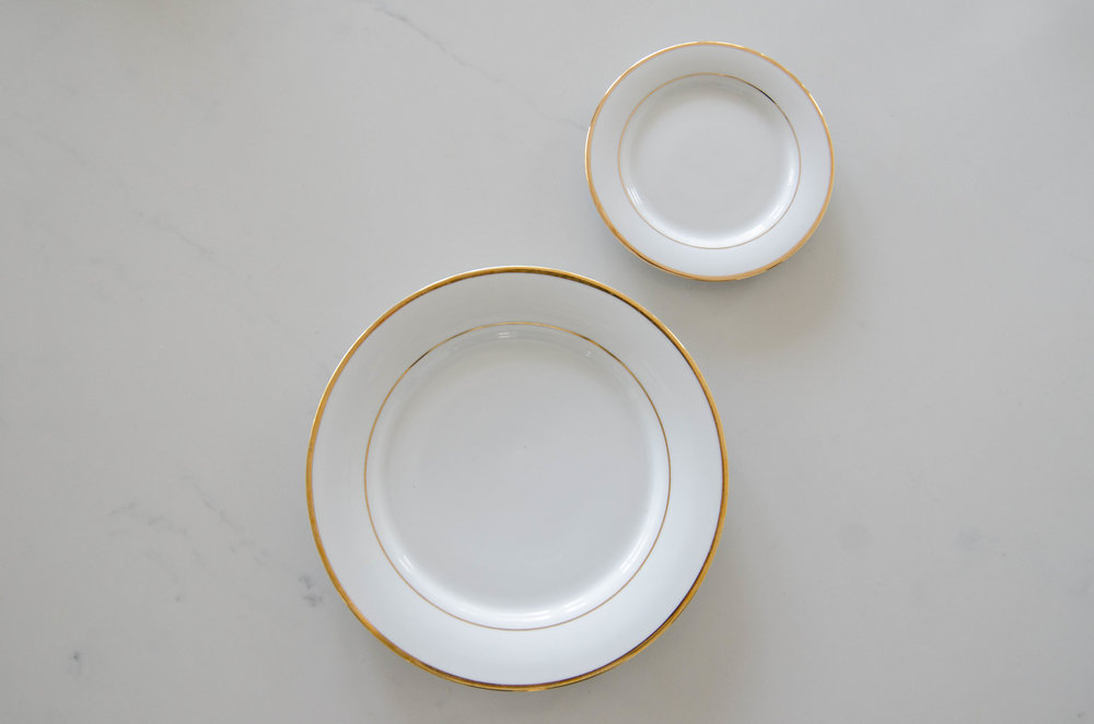 White China with Gold Band