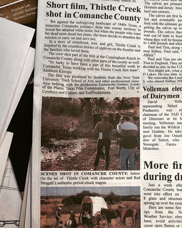 Thank you Comanche Chief Newspaper for featuring us on the front page of this week's issue! The Comanche Chief is the oldest newspaper published west of Fort Worth and the oldest business institution in Comanche, TX. 🎉🙌🏼